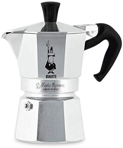 Bialetti Moka Express Espressokocher, Aluminium, Grau, 2...
