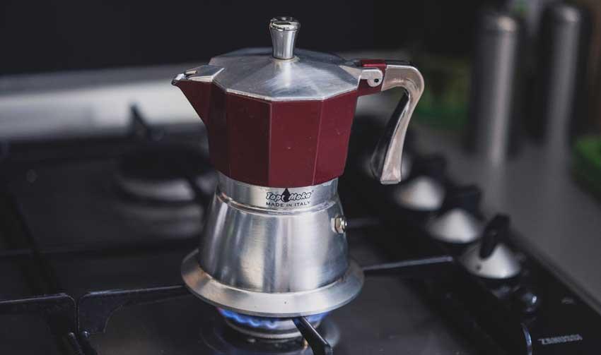 Espressokanne heizen