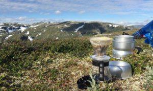 Kaffee filtern Camping